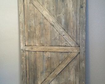 Rustic Weathered Barn Door, British Brace Barn Door