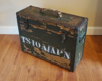 Vintage Army Equipment Case, Storage Box