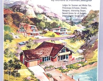 350 House plans MID CENTURY MODERN home design book