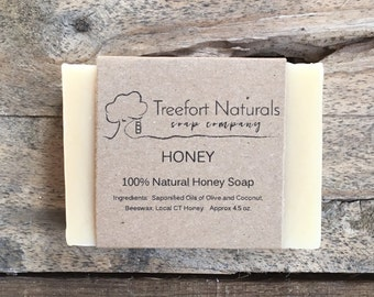 Honey Soap - Handmade Cold Process, All Natural, unscented