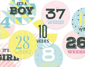 Pregnancy Stickers, Baby Bump Stickers, Pregnancy Gift, Maternity Stickers, Belly Stickers, Baby Shower Gift, Baby Bump