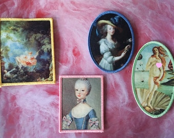 My Girls - Jenni's Prints Marie Antoinette Old Paintings ironon patches Rococo Pre Renaissance Shocking Provocative Botticelli