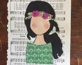 CUSTOM Hymnal Girl
