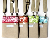 Essentials Cross Body Bag - Purse - Linen Exterior with Cotton Interior, Adjustable & Detachable Strap, Supports Girls Education