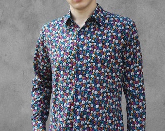 Liberty shirts for men - Edelweiss - BAÏSAP - L size