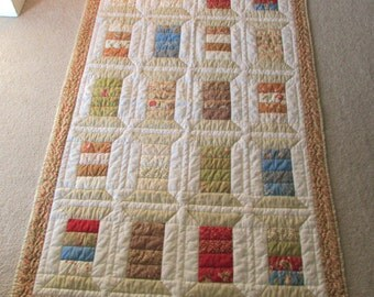 Handmade  Spool quilt, machine  pieced , hand quilted
