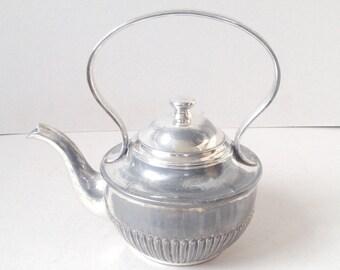 Vintage silver plate teapot, Kettle style teapot, Kettle shaped teapot, EPBM Teapot, John Turton & Co