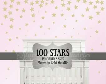 Official Stars Confetti Wall Decal - Stars Nursery Decal - Stars Pattern Stars Theme Nursery Bedroom Decor Stars Stickers Collage Wall Art