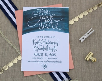 Save the Date Watercolor Wedding Announcement / Save the Date Card / Watercolor Save the Date / Watercolor Wedding Invitation Suite