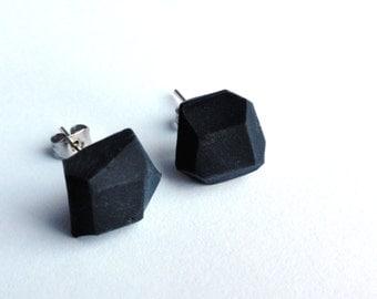 ROCKS EARRINGS - small black rocks