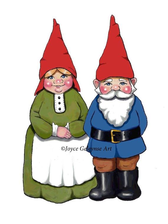 Gnome Clip Art: Items Similar To Gnome Clipart, Hand Drawn Clipart