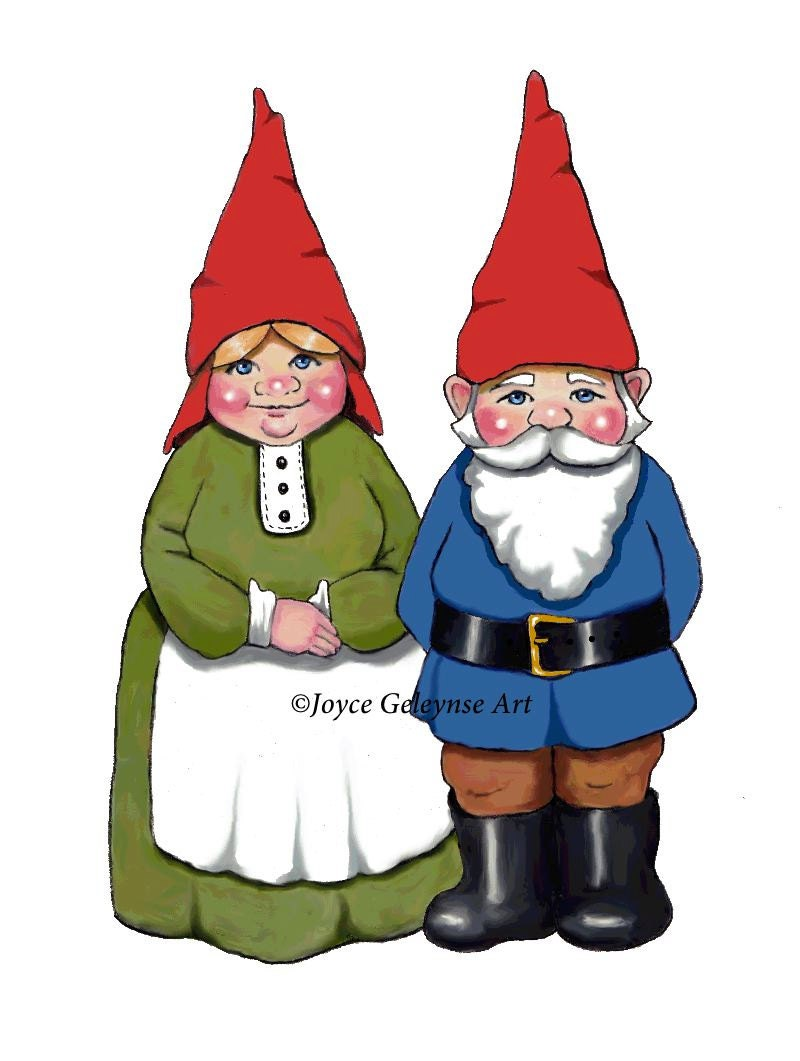 Gnome Clipart Hand Drawn Clipart Commercial Use OOAK