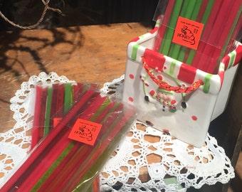 3 packs of 15 Assorted Christmas Honey Sticks  -Stocking Stuffers