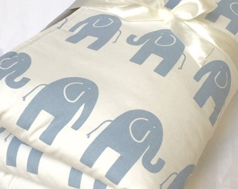 """Baby Play Mat Nursery Gender Neutral Baby Blue Elephant Tummy Time Baby's Room Travel Mat Modern Baby Shower Monogram 35"""" x 35"""" or 40"""" x 35"""""""