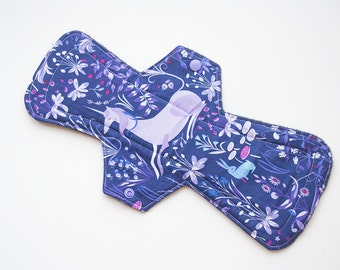 "The Lovely Hunt - XL 13"" Contoured Cloth Pad - Post Partum / Heavy / Overnight - Lizzy House"