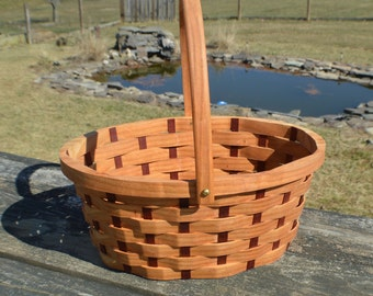 Garden gathering basket medium Oval with handles