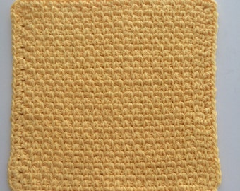 Buy 3 get 1 free. Yellow Dish cloth/Wash cloth- Clearance priced