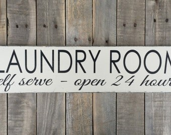 Laundry Room Hand Painted Wood Sign, Laundry Room Decor, Custom Sign, Home decor