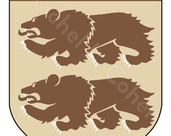 AHL Hershey Bears Hockey Game of Thrones Inspired Medieval Fantasy Sigil Poster 12x18