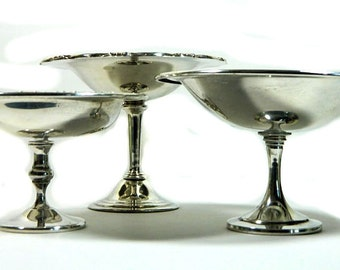 Choice of ONE Vintage Silverplate Pedestal Compote