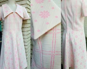 Handmade 1960s double print dress