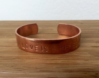 Large Custom Copper Cuff