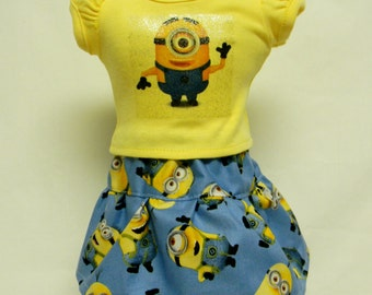 Minions Theme Outfit  For 18 Inch Doll Like The American Girl