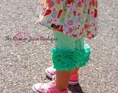 Sweet Mint Icing Capris- ready to ship-m2m sew sassy