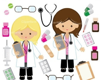 ON SALE INSTANT Download. Cd_4_doctor clipart. Doctor girl clipart. Personal and commercial use.
