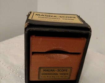 Magna-Scope, dimensional viewer, 1940's slide viewer