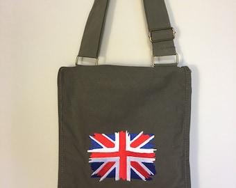 Union Jack British messenger bag
