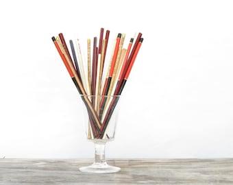 16 Pair of Vintage Chop Sticks - Vintage Chop Sticks Collection - Vintage Asian Chop Sticks -  Old Chinese Chop Sticks - Boho Decor