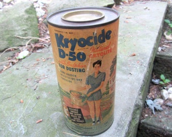 kryocide D50 garden insecticide dusting powder full can pa salt co