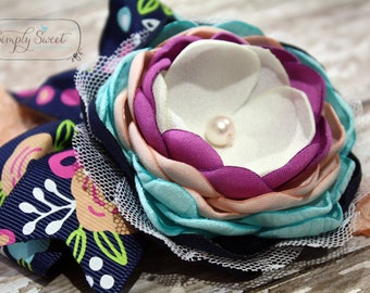 In Full Bloom - Colorful Spring headband or hairclip