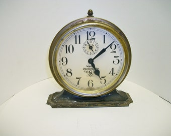 Vintage Wards Old Reliable 8 Day Winding Clock
