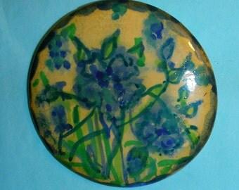 Dipinto a mano su disco di ceramica del gesso - pre bellica da Italia