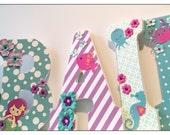 Mermaid nursery. Starfish. Beach. Pink and Teal. Wood Nursery Letters. Pink and Grey. Tropical. Turquoise. Girls Nursery Letters. Baby Room.