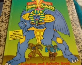 1994 Mighty Morphin Power Rangers Coloring Activity Book MINT