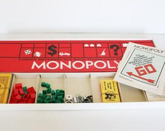 Vintage 1973 Monopoly--Vintage Games--1970s Collectibles--Vintage Ephemera--Retro Board Game--Kitsch--Game Collector--Retro--Toy Collector