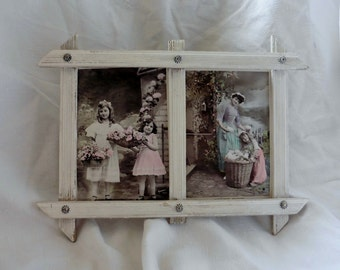 French Vintage, Gustavian ,Double  Frame, Romantic Pictures, Shabby French Home, Faded French,