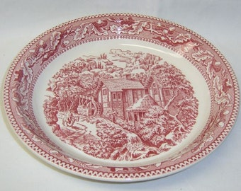 Royal China Pink MEMORY LANE 9 3/4 Inch PIE Plate or Pie Baker