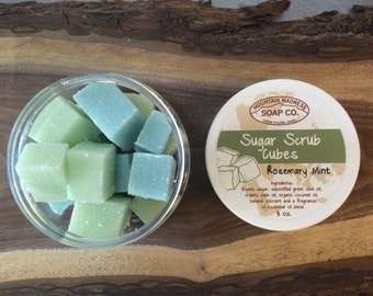 Rosemary Mint Organic Sugar Scrub Cubes