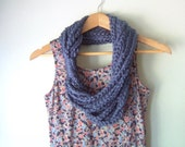 Blue Scarf Necklace . Mid...