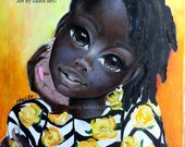 "I Want To Tell You Something"" African Art by Salkis Re"