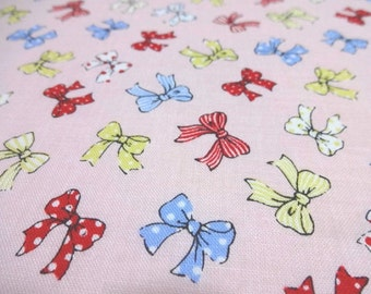 Japanese Fabric LECIEN Spring Pop Ribbon Pink FQ