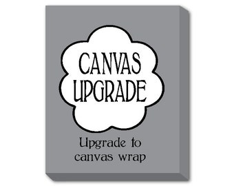 Turn any print into a canvas - Canvas Wrap Upgrade - 8 x 10, 11 x 14, 12 x 16 or 16 x 20 - Ready to hang canvas art