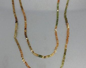 BrownTourmaline/Gold Pyrite Necklace