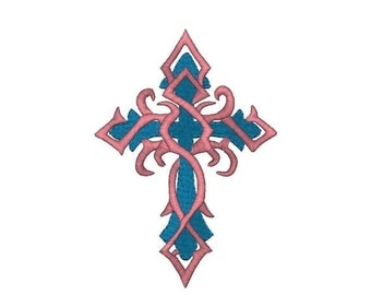 Sale-20% Off Christian Cross in 6 Sizes Instant Download Machine Embroidery Design