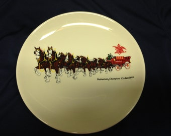 "Budweiser Champion Clydedales 8"" Collectible Plate"