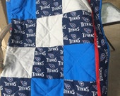 """Tennessee Titan Quilt """"Reserved for Jenna Clough"""""""